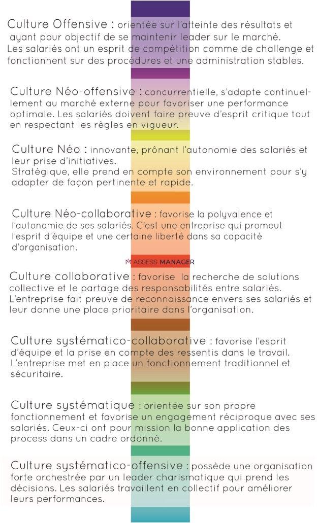 Description des différentes cultures d'entreprise